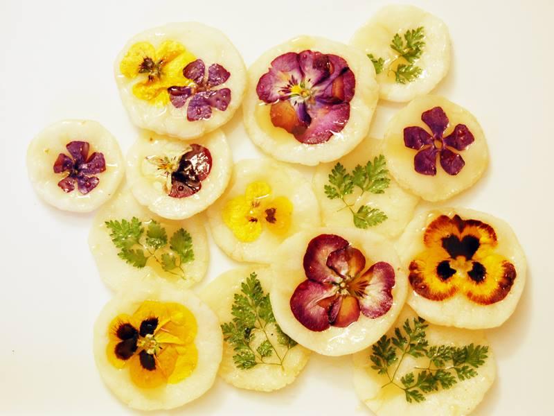 Enfeitando com flroes comestíveis
