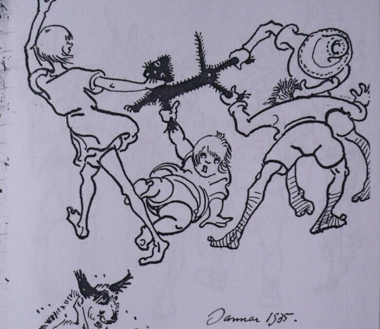 Ilustrações de Lutzenberger retratam a infância do ambientalista