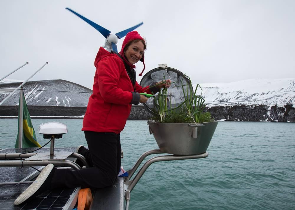até na Antartica tinhamos ervas frescas  foto Familia Schurmann divulgação