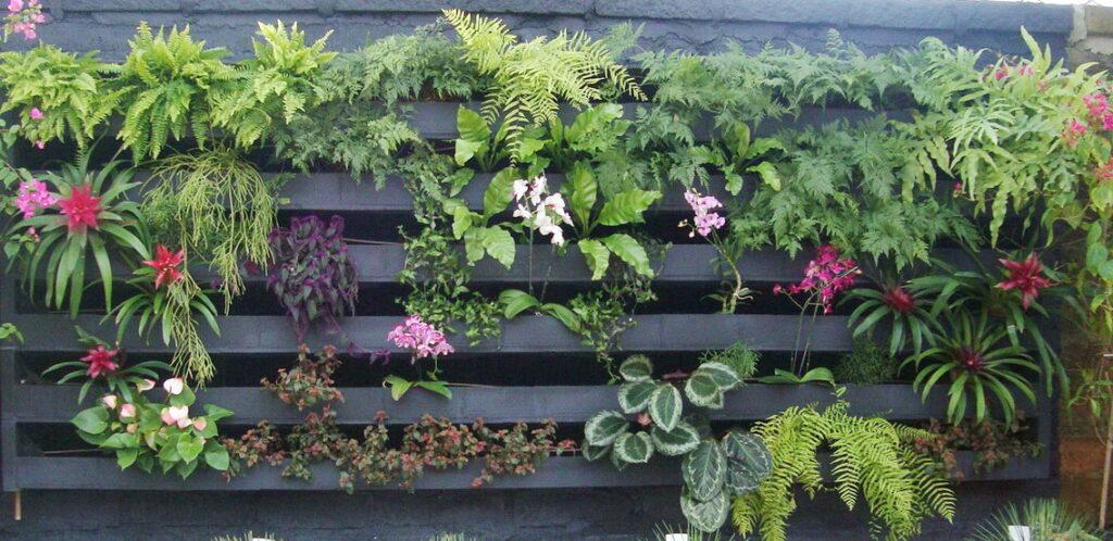 jardim vertical em execução foto: Helena Schanzer