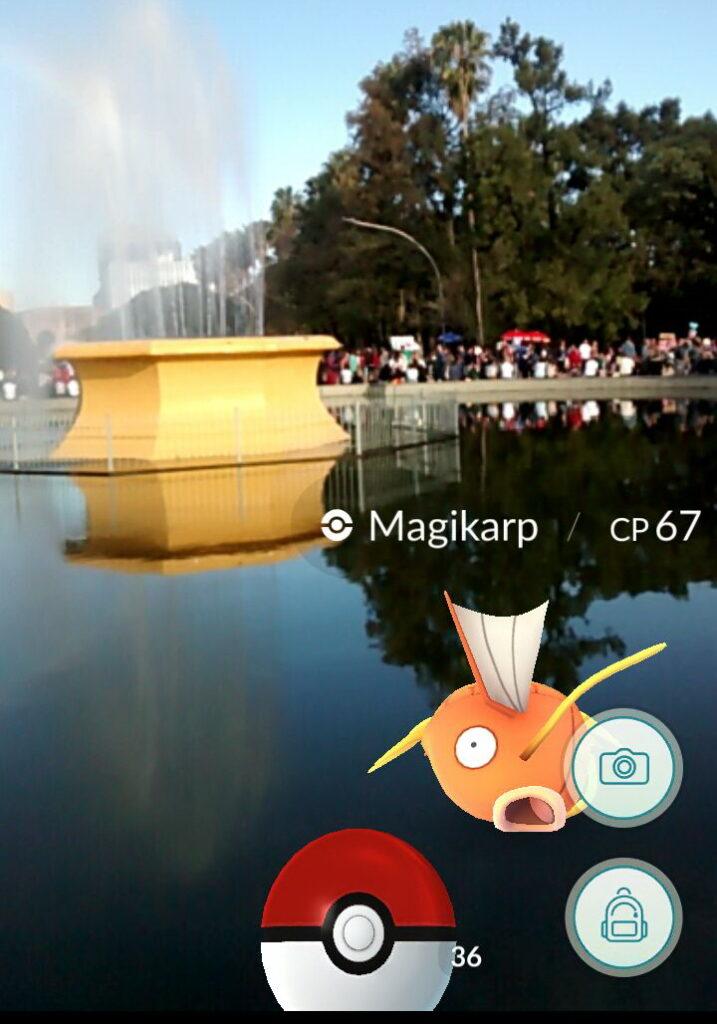 Capturando Pokemon na Redenção Magikarp
