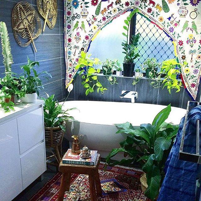 plantas no banheiro the jungalow instagram