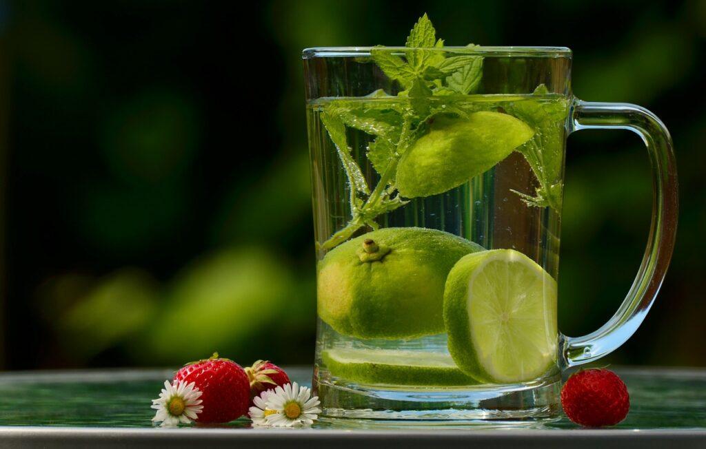 Prepare água aromatizada para se hidratar no calor