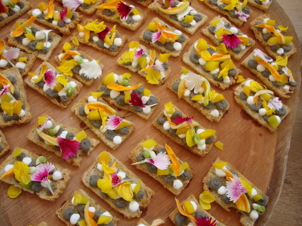 Tartine com flores do marcelo Schambeck